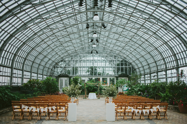 Garfield Park Conservatory Wedding.Garfield Park Conservatory Wedding Ceremony In The Greenhouse Photo