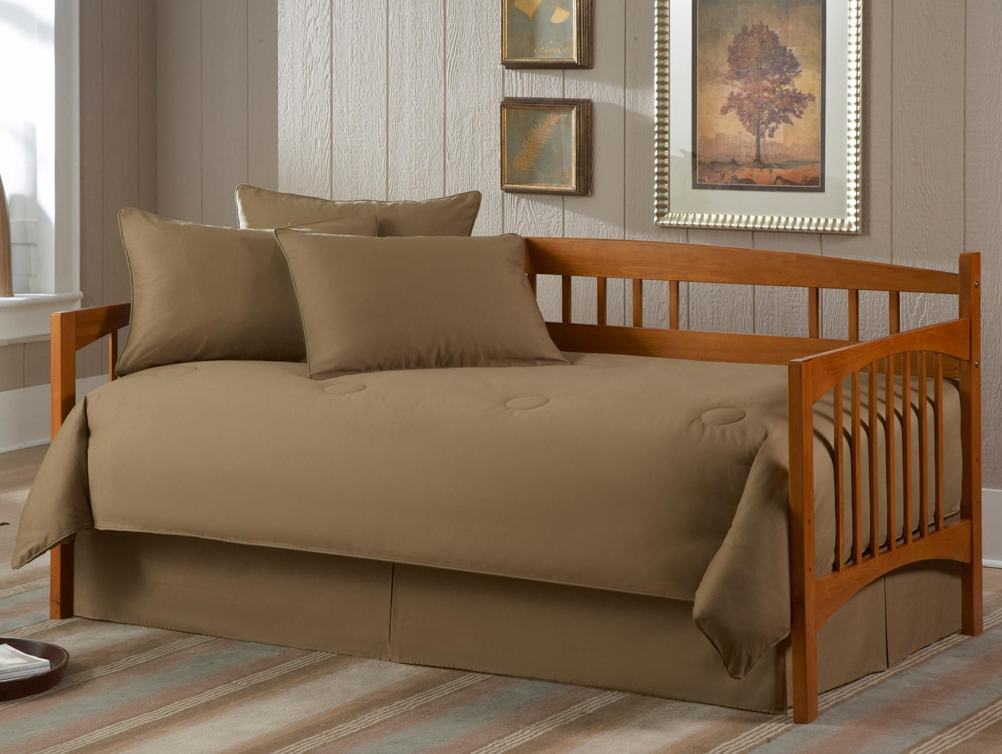 Solid Khaki Paramount 5-piece Daybed Bedding Set - Style