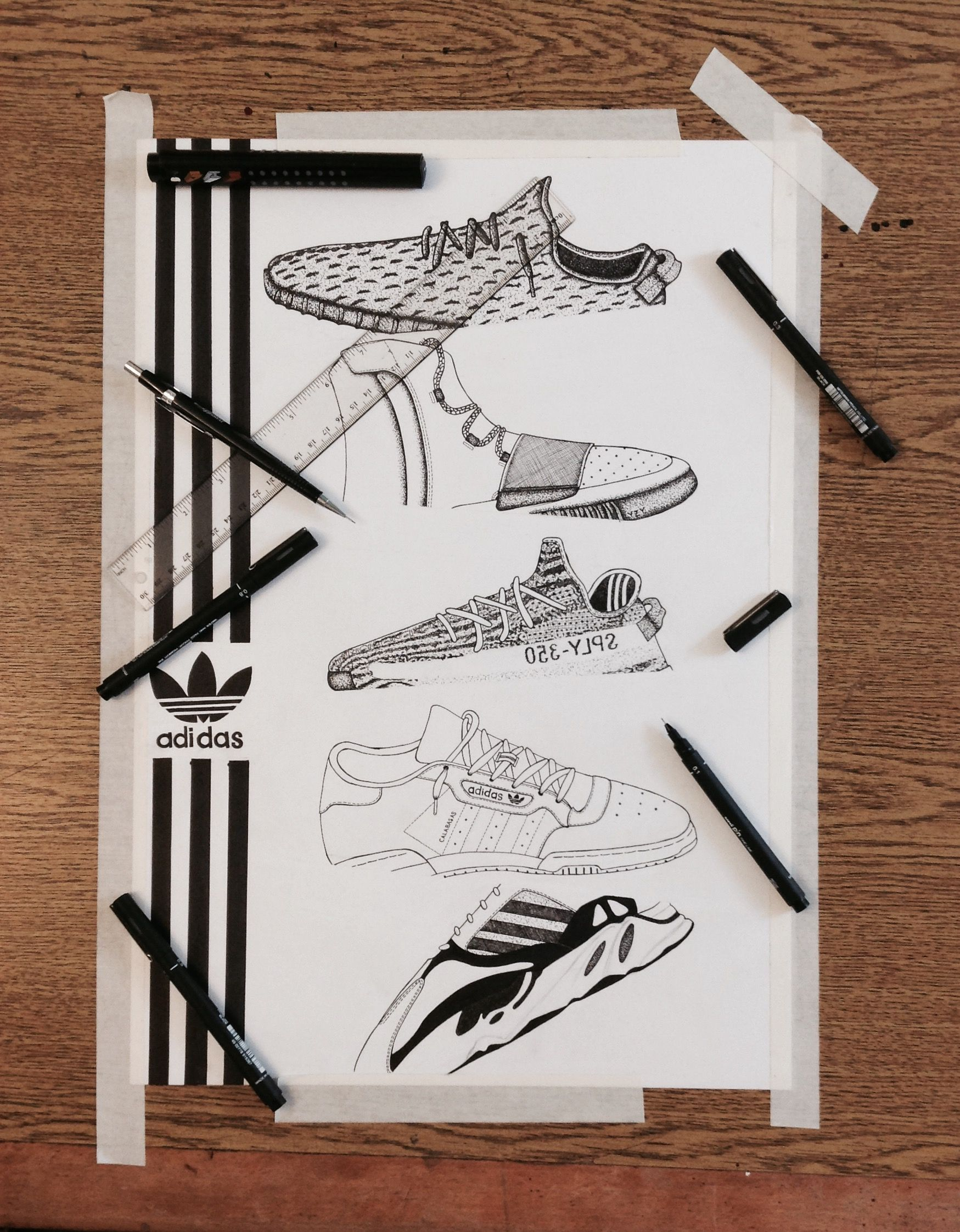 a83a36c502e1d Adidas YEEZY BOOST  art  artwork  artist  drawing  draw  painting  artist   sketch  streetwear  yeezy  adidas originals  adidas  kanyewest  ink  hype  ...