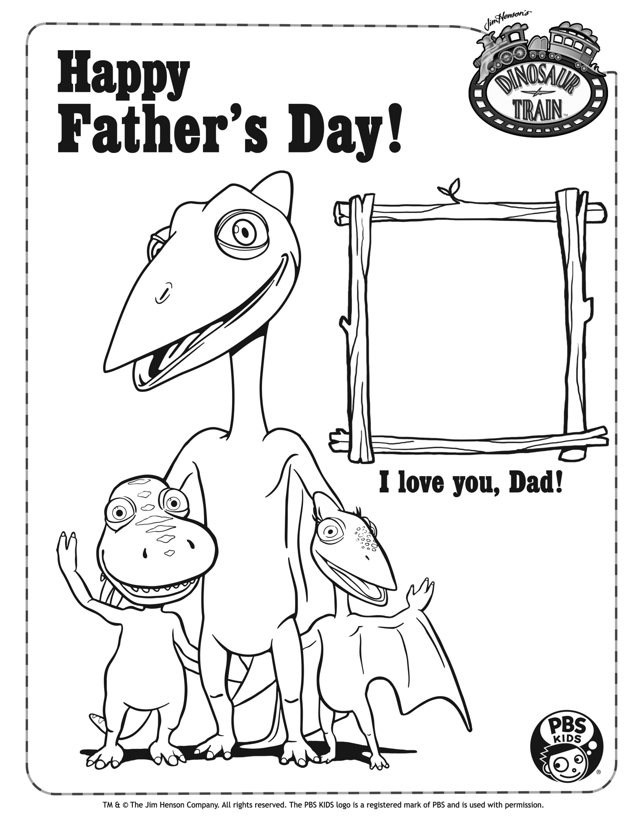- Last Minute Father's Day Card From Dinosaur Train (With Images