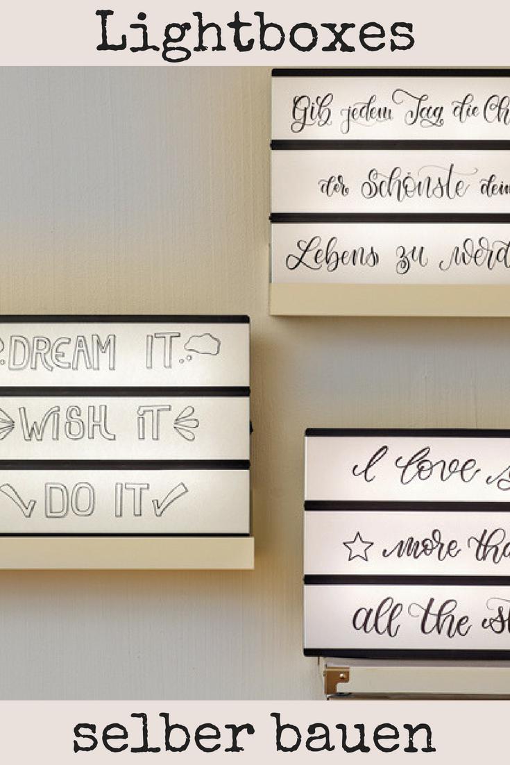 Lightbox | DIY-Ideen | Pinterest | Diy deko, Bilderrahmen und Lichtlein