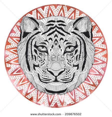 Tiger Detailed Sketch
