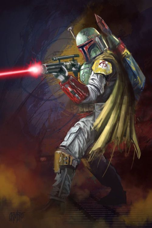 13 NoH Day 09 Boba Fett by Grimbro | Raiders of the Lost Tumblr