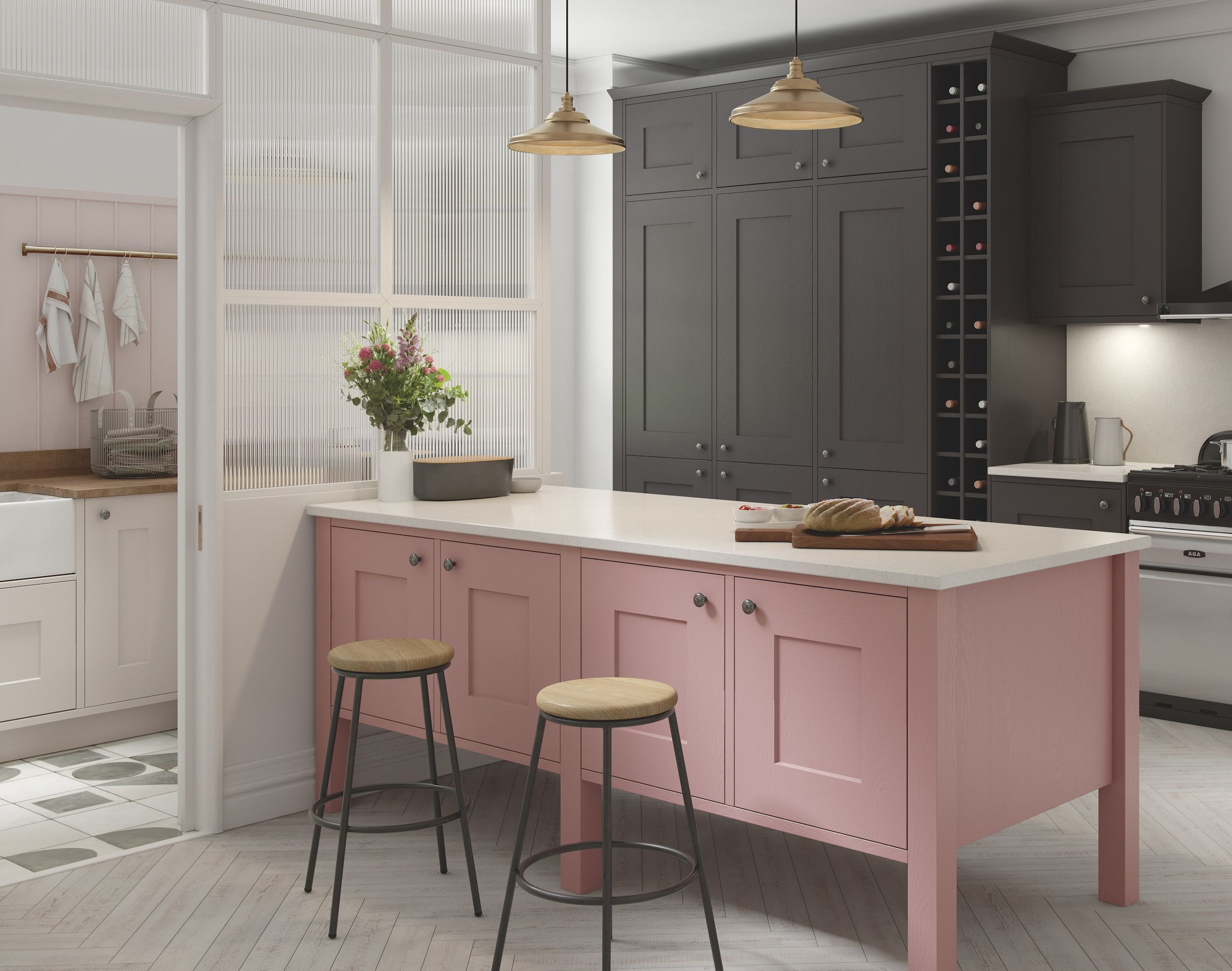 pink kitchen in a modern kitchen Kitchen style