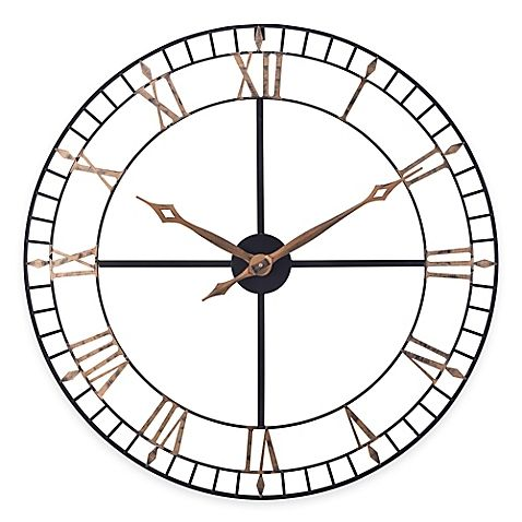 The Open Works Wall Clock From Sterling Amp Noble Gives Any Space Some Industrial Style An Elegant Oversized Metalwor Wall Clock Oversized Wall Clock Clock
