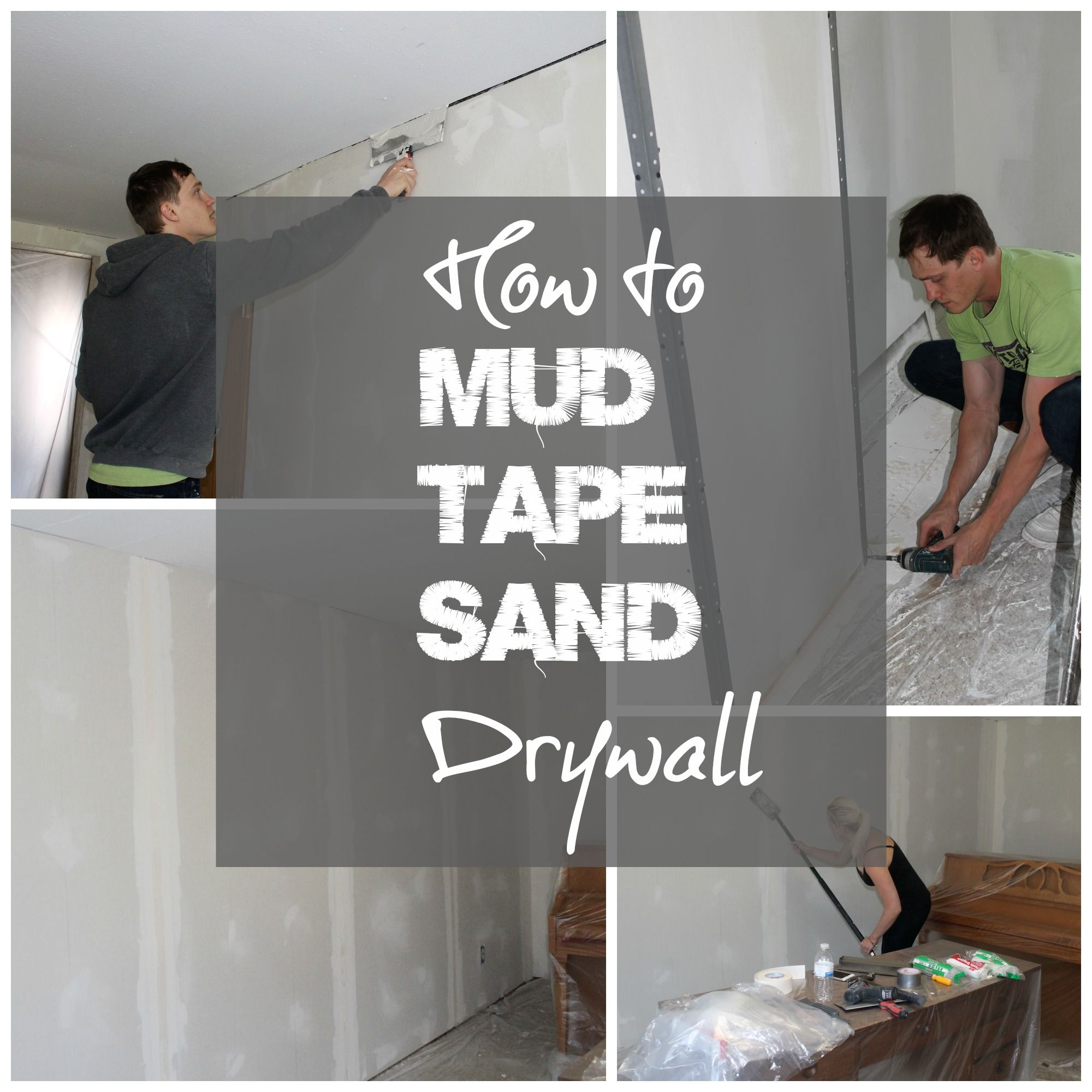 How To Tape, Mud And Sand Drywall