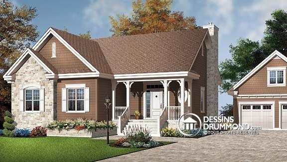 D tail du plan de maison unifamiliale w3101 dream house for Maison eplans