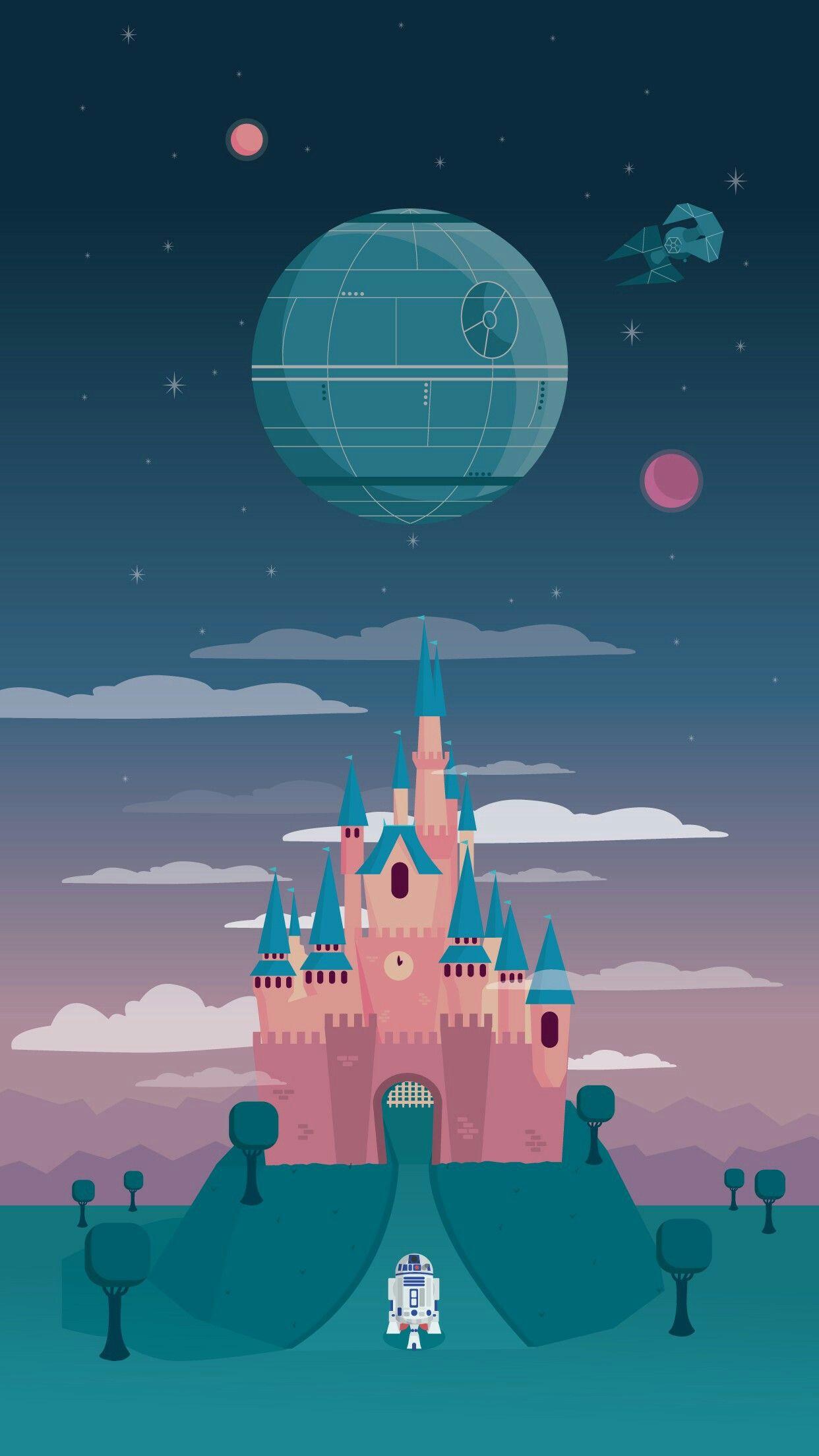 Star Wars Disney Castle Wallpaper Iphone Disney Disney Phone Wallpaper Star Wars Wallpaper