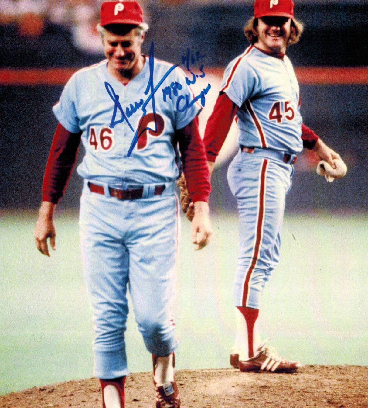 Dallas Green Amp Tug Mcgraw 1980 Nlcs Phillies Baseball