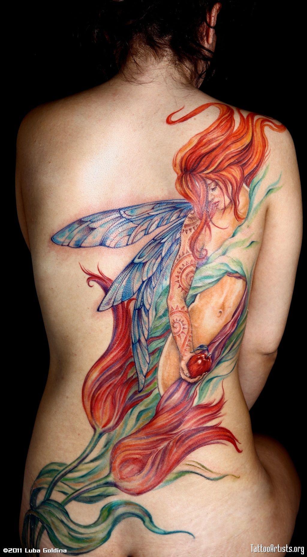 Tattoo ideas back piece pin by susan tait on body art  pinterest  fairy tattoo and tatting
