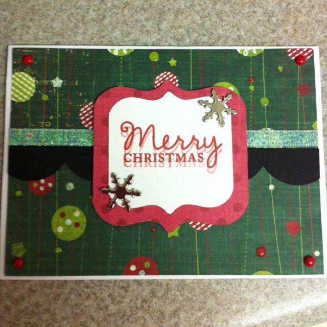 Funky Christmas card I made