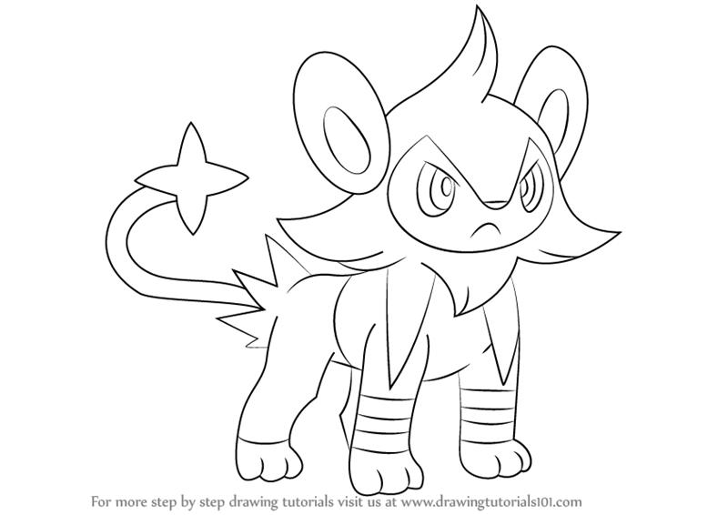 Luxio is a feline quadruped character from Pokemon. It is like lion ...