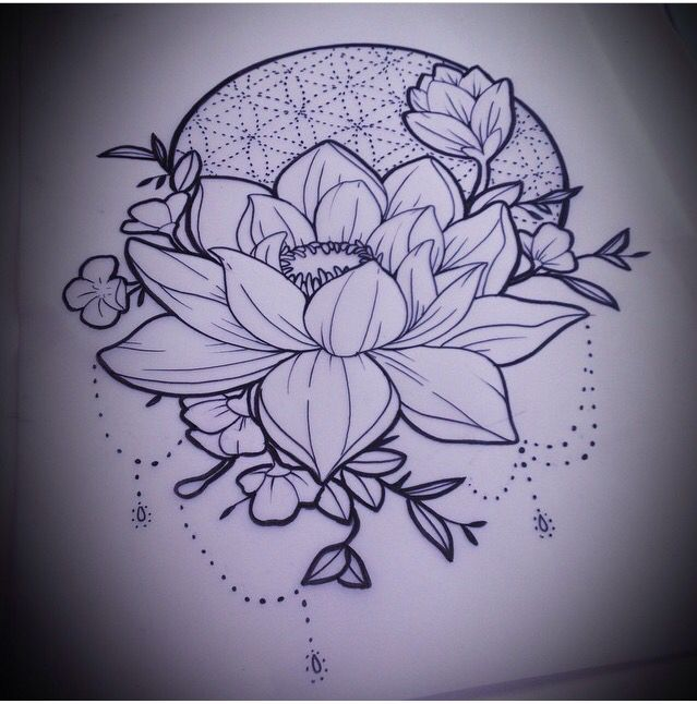 Love The Idea Of The Lotus With The Flower Of Life On Top Flower Of Life Tattoo Tattoos Inspirational Tattoos