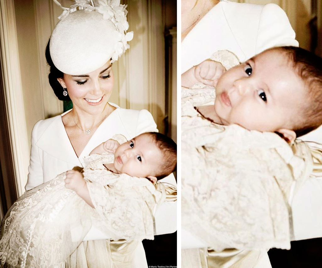 Modern monarchy: The official portraits from Princess Charlotte's christening are here!:Princess Charlotte Elizabeth Diana has her mother's eyes. The Duchess of Cambridge holds Princess Charlotte in the Drawing Room at Sandringham House