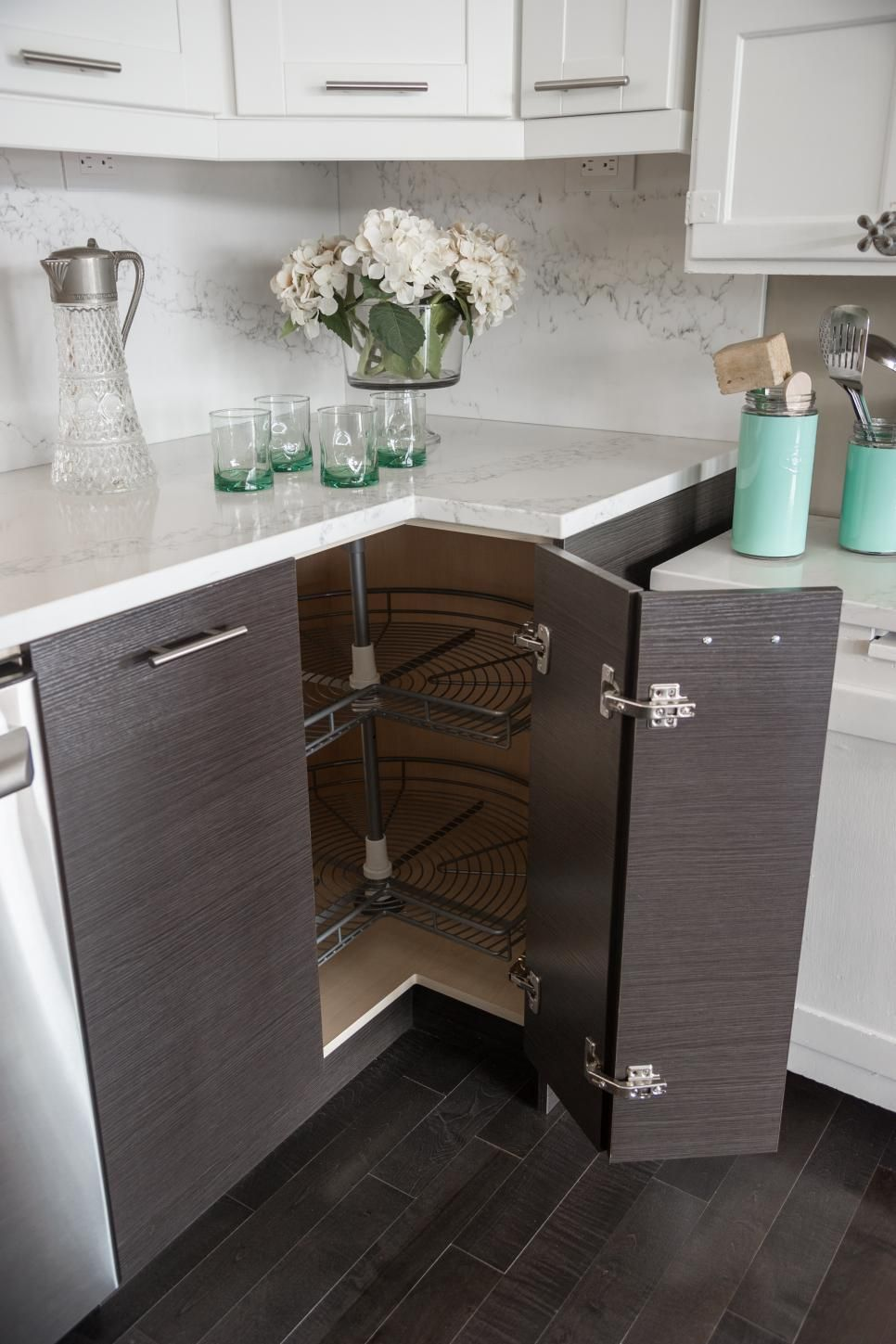 more hard working than lazy this lazy susan storage pantry makes the most of corner cabinet on kitchen organization lazy susan cabinet id=29016