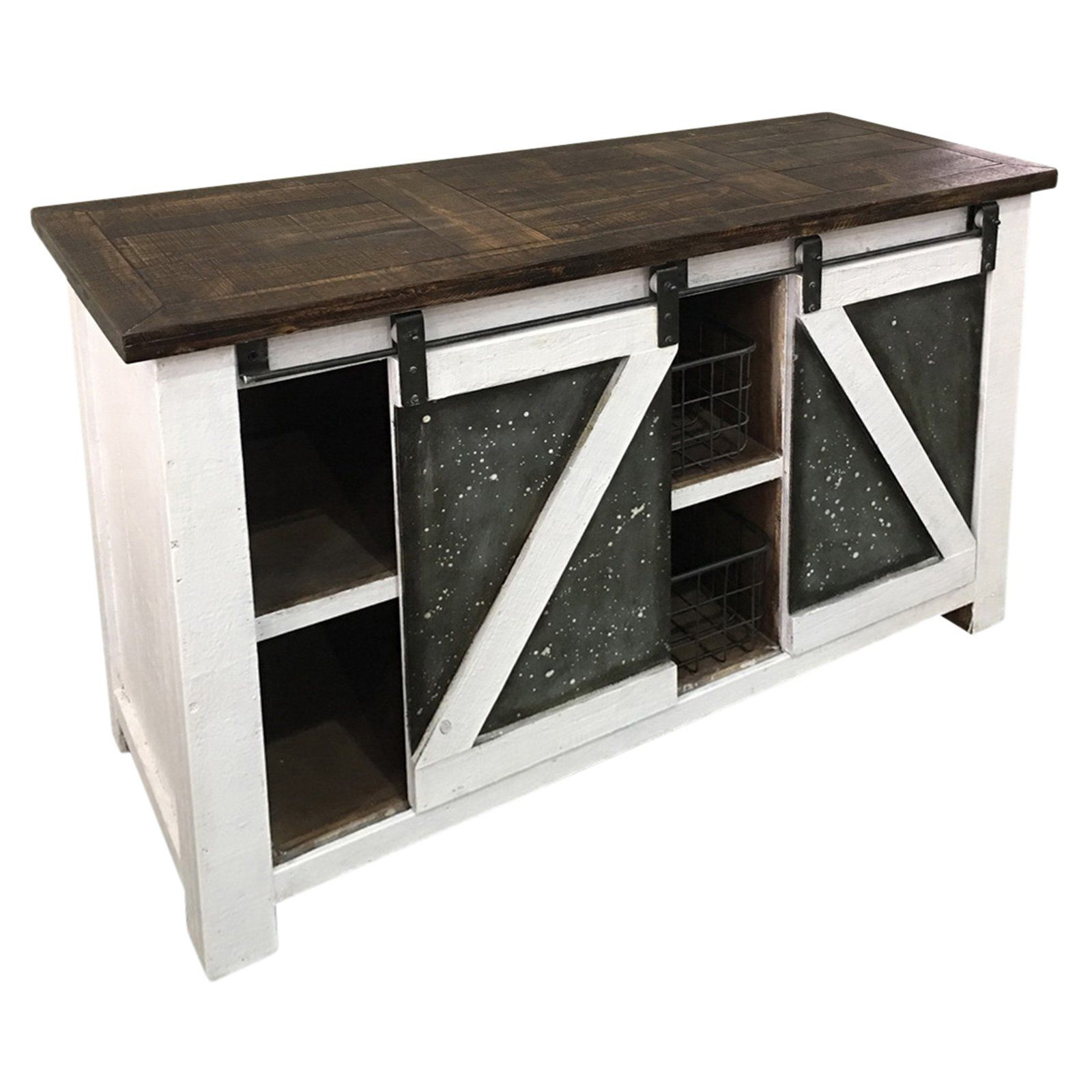 Sagebrook Home Console Table With Sliding Doors From Hayneedle