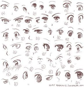 Anime Eye Expressions Anime Eye Drawing Anime Drawings Tutorials How To Draw Anime Eyes