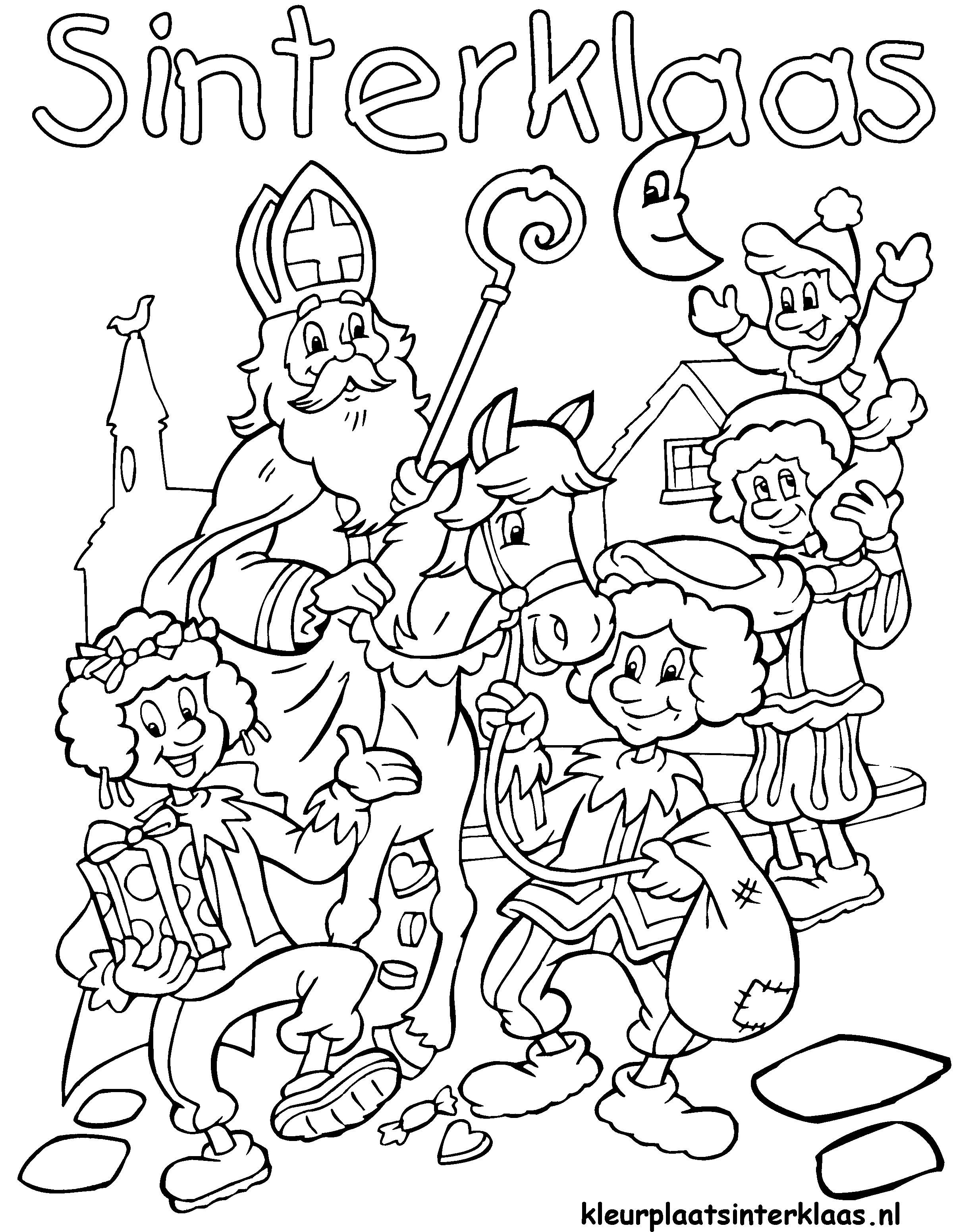 Sinterklaas Kleurplaten Bovenbouw Ben Je Al Helemaal Klaar Voor De Intocht Van Sinterklaas