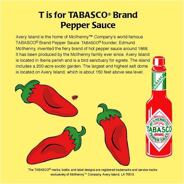 T Is For Tabasco A Page From The Book Louisiana Potpourri From A To