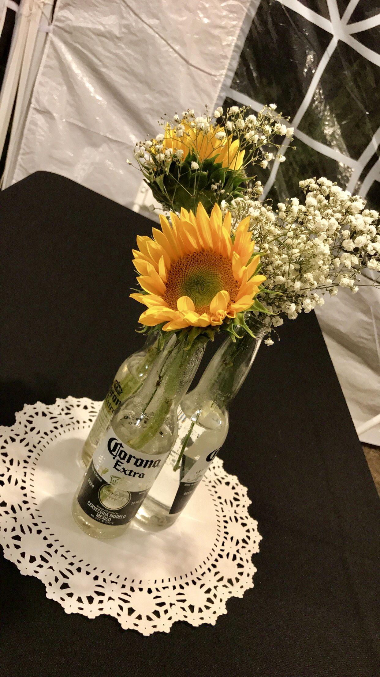 Enjoyable Sunflower Centerpieces Beer Theme Sunflower Theme Corona Home Interior And Landscaping Oversignezvosmurscom