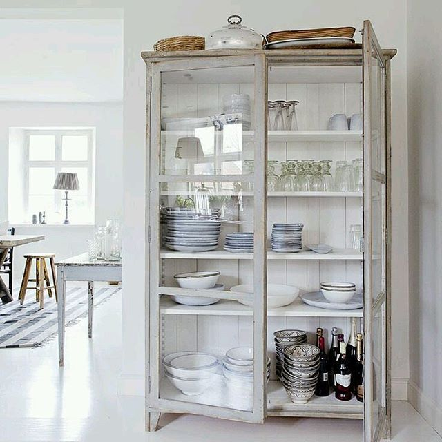 Cabinet in kitchen for decorative storage...love it! | For The Home ...