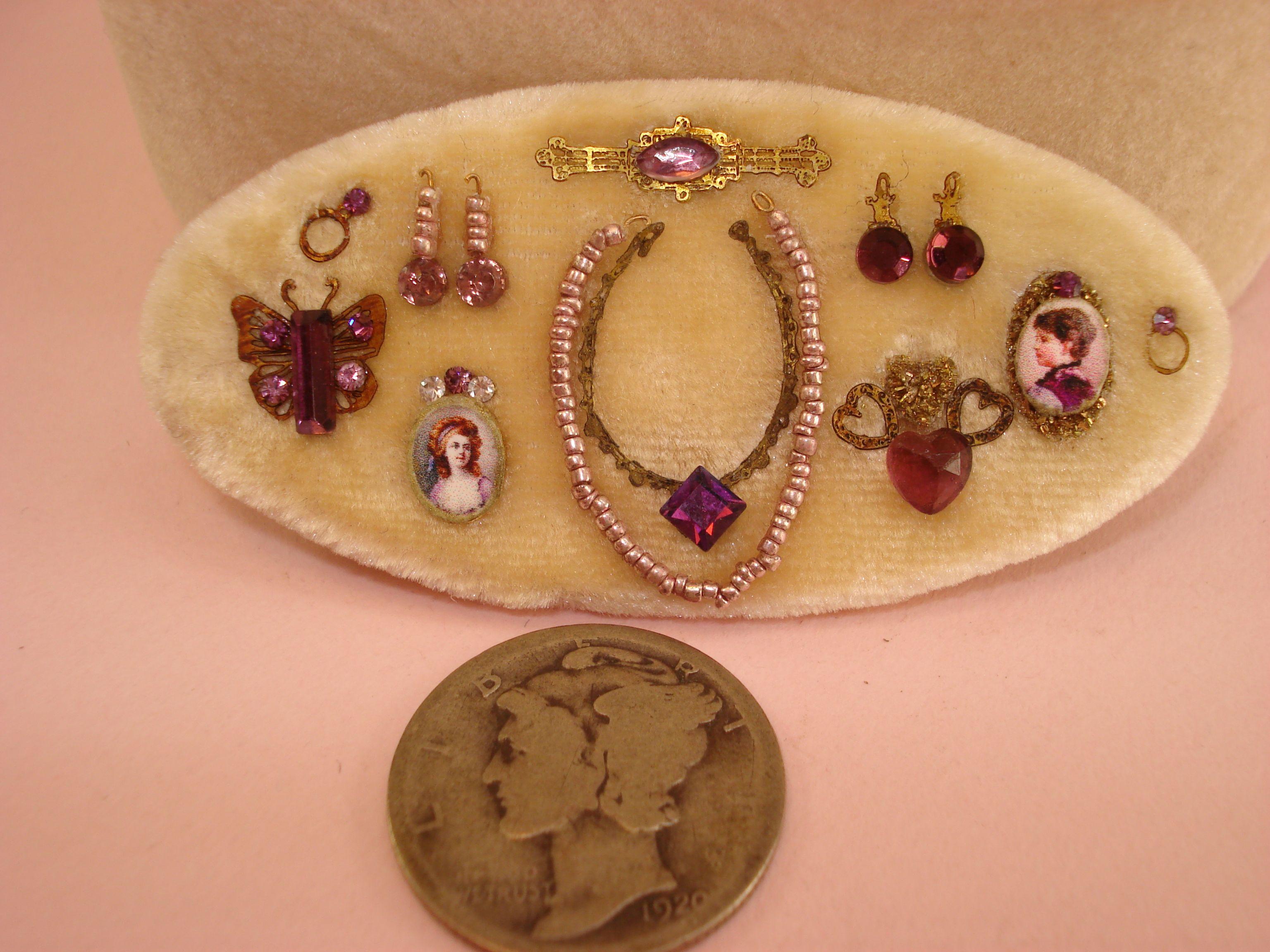dollhouse miniatures handmade original jewelry by Chanel