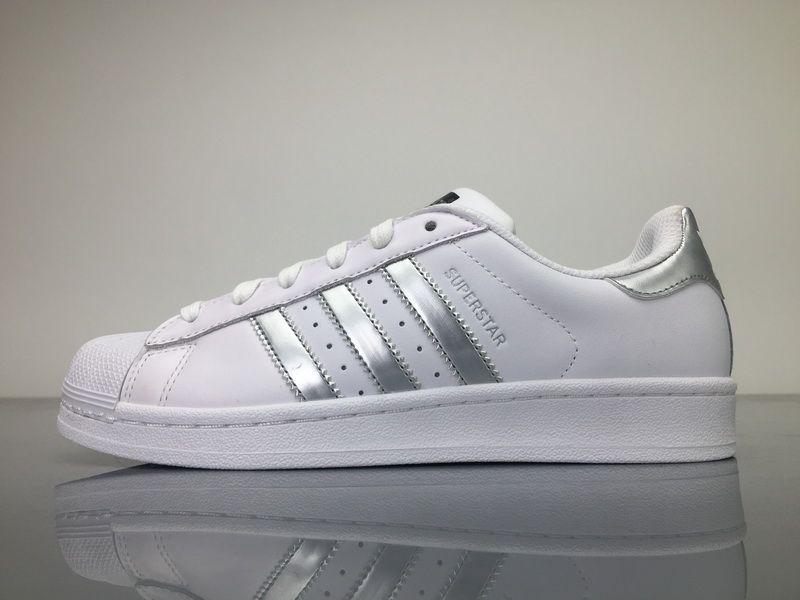 adidas superstar scarpe bianco argento aq3091 adidas superstar scarpe