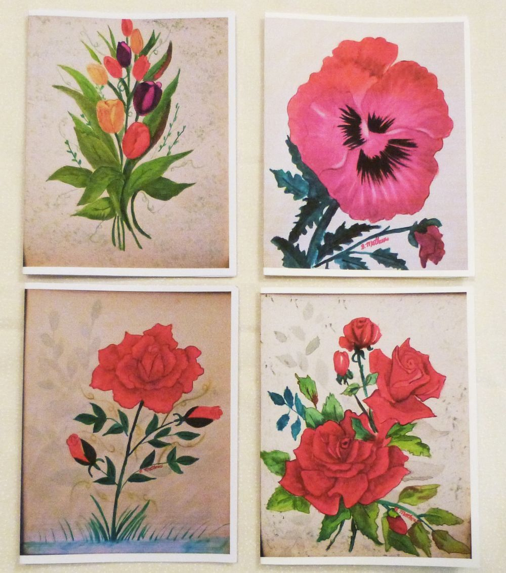 Handmade Greeting Card Set Of 4 All Occasion Greeting Cards