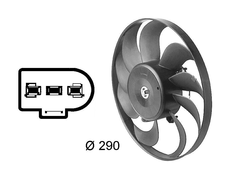 Engine Cooling Fan Assembly Premium Cooling Fan Right Behr Hella