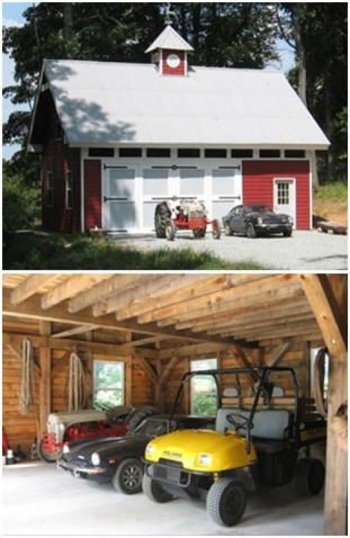 Photo of Wie wäre es mit deiner eigenen Hobby-Scheune? Dieser wurde für einen alten Traktor gebaut, ein klassischer T …