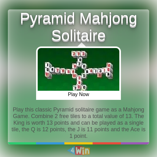 Pyramid Mahjong Solitaire Game Free Online Games Solitaire Games Pyramid Solitaire Mahjong