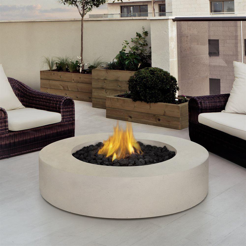 Shop Real Flame 9660LPAW Antique White Mezzo Round