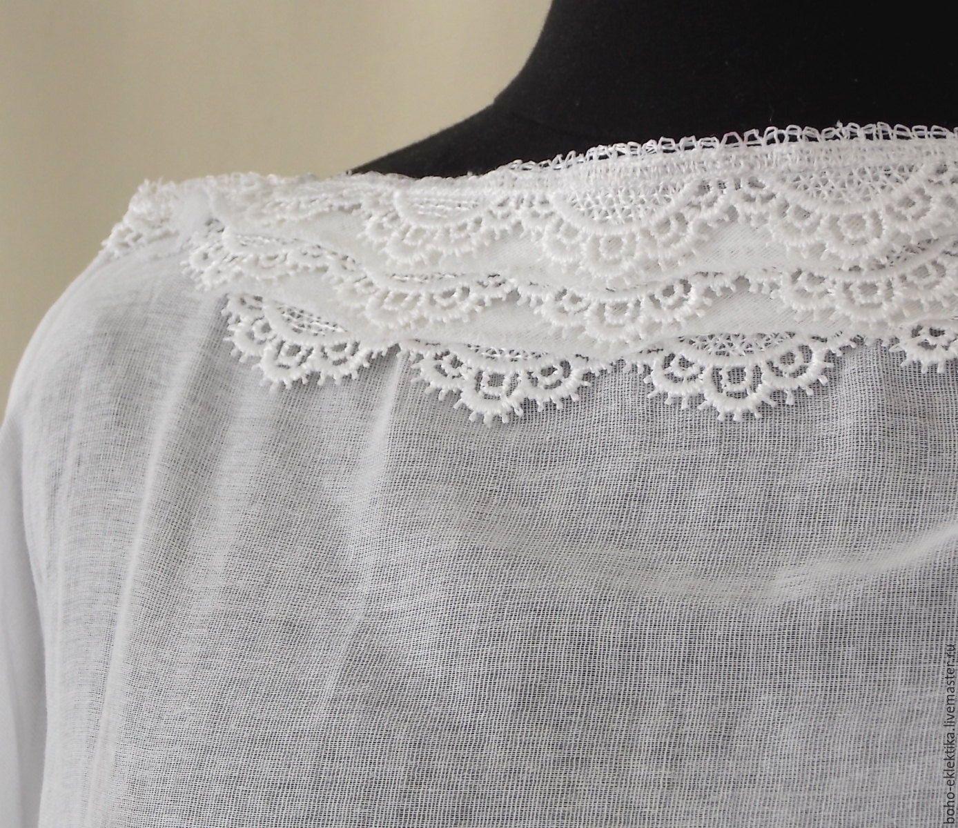 6eefe9e1b8a Blouses handmade. Blouse cotton white Bohemian
