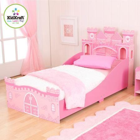kidkraft princess castle toddler bed - 76260 | princess castle