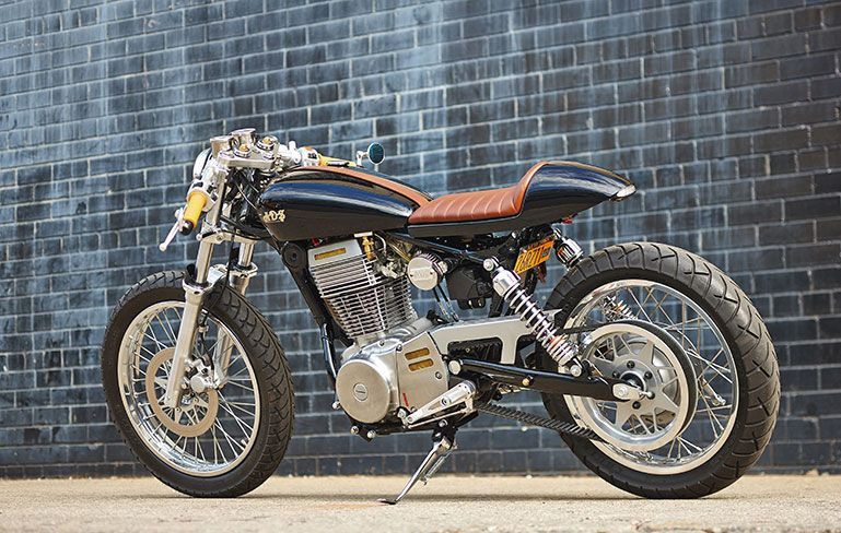 A Custom Built Convert From Suzuki Savage With The Addition Of CS 1 Cafe Racer Kit RYCA Motors