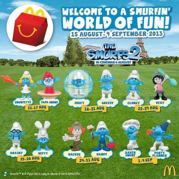 Collectible Playing Cards Complete Set Malaysia Mcd Mcdonalds The Smurfs 2 2013 Free Shipping Collectibles Imagembr Com Br