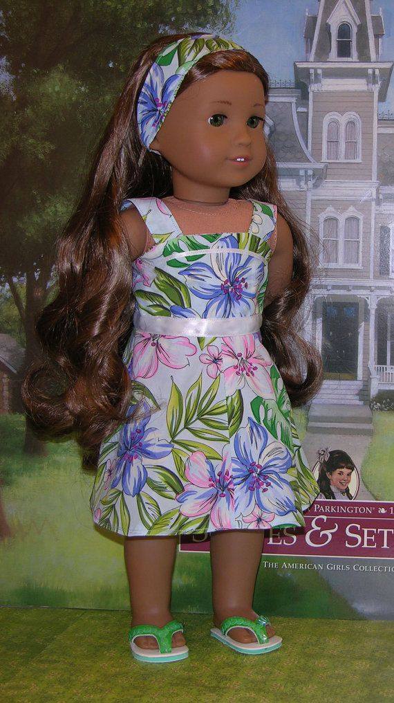 Tropic Vacation - Retro styled dress for American Girl doll