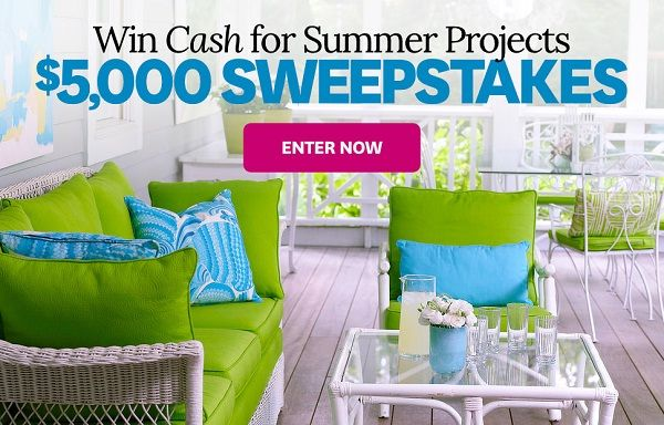 try your good luck in better homes and gardens $5,000 sweepstakes to