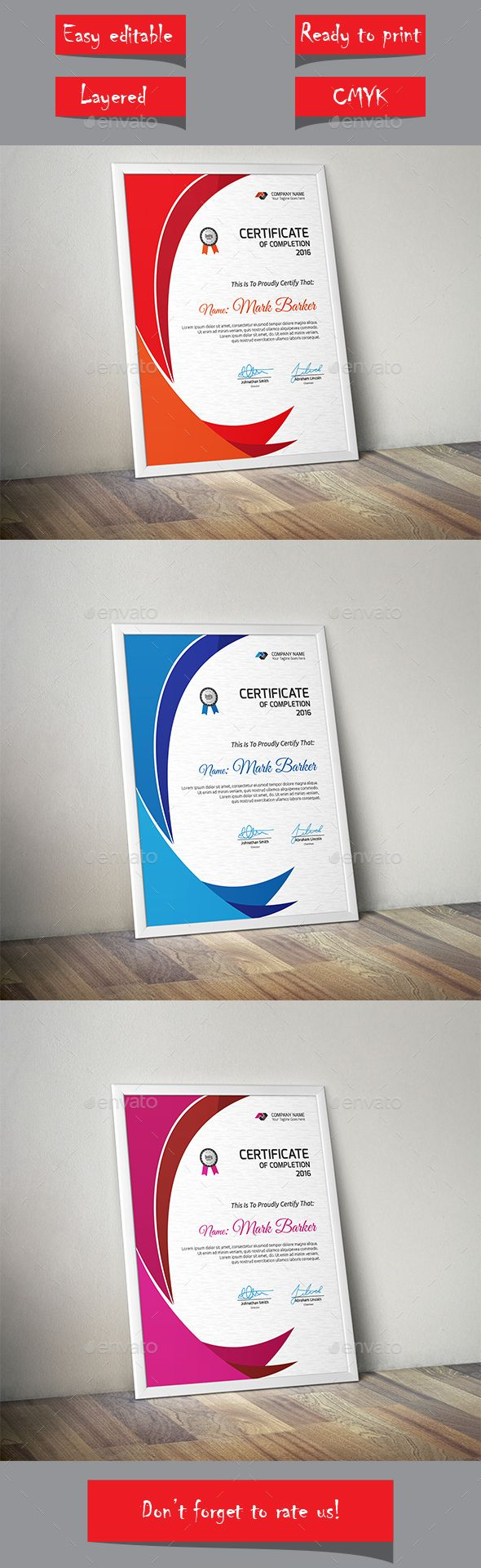 Certificate certificate template and infographic templates certificate template vector eps download here httpgraphicriver yadclub Gallery