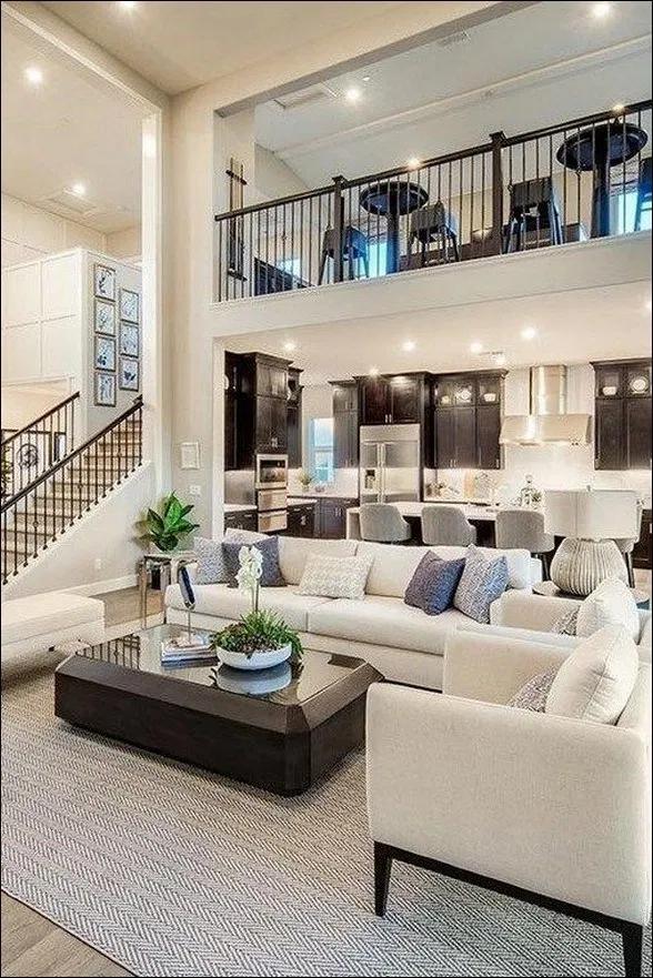 55 Amazing House Interior Design To Transform Your House Style 33 Newsmartdesign Com Open Living Room Design Beautiful Houses Interior Dream Home Design