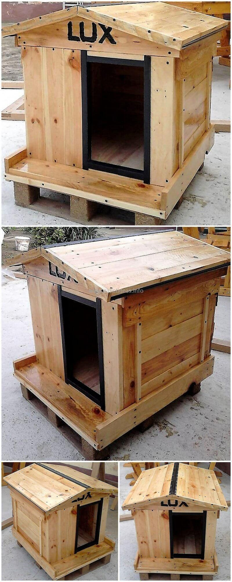 How Can We Reuse Wasted Wood Pallets   Pallet dog house, Dog house ...