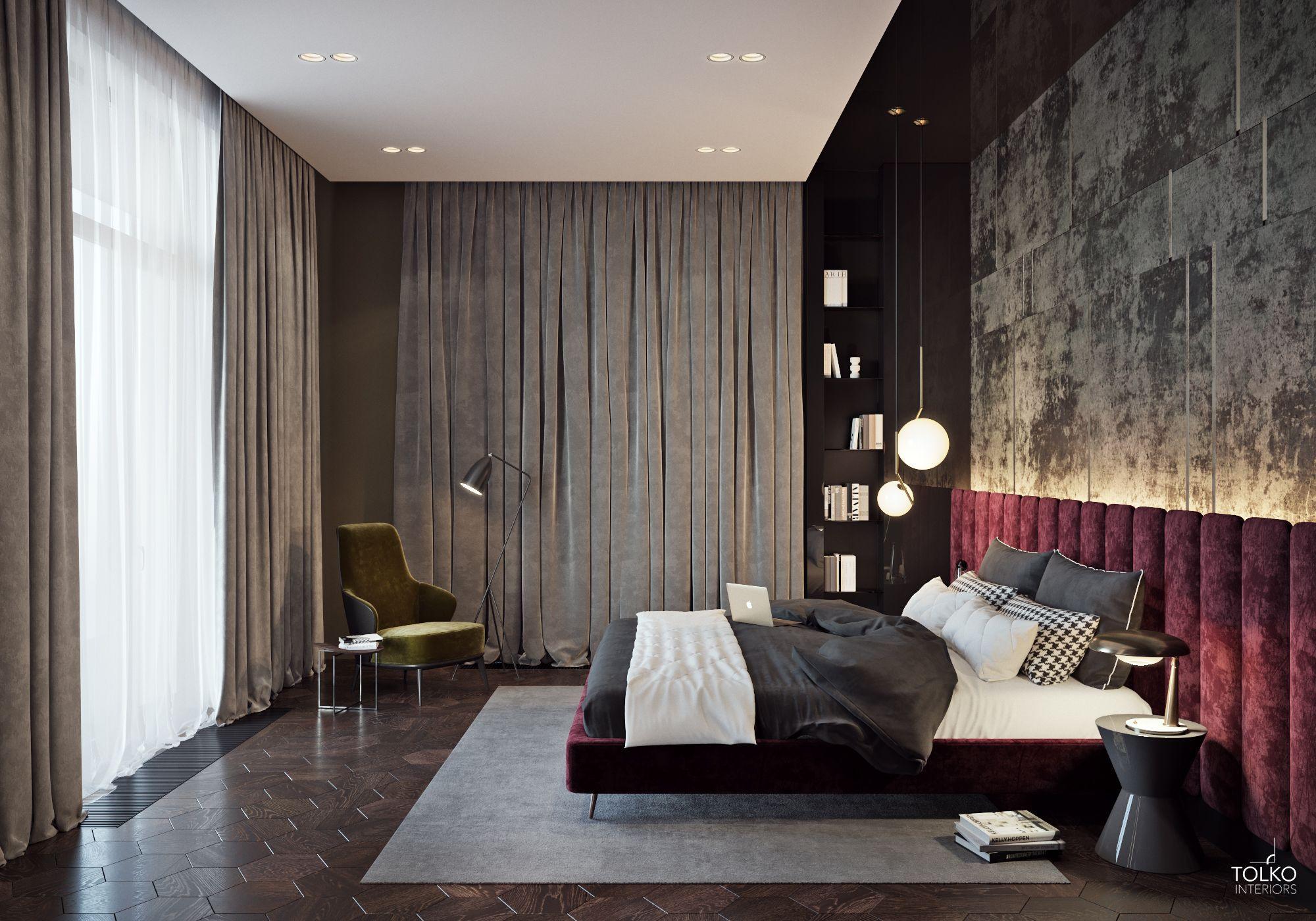 Luxurious modern apartment /BEDROOM  Modern luxury bedroom