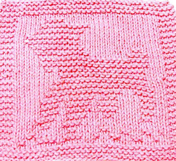 Baby Washcloths Knitting Patterns: Knitting Cloth Pattern - BABY LAMB - PDF