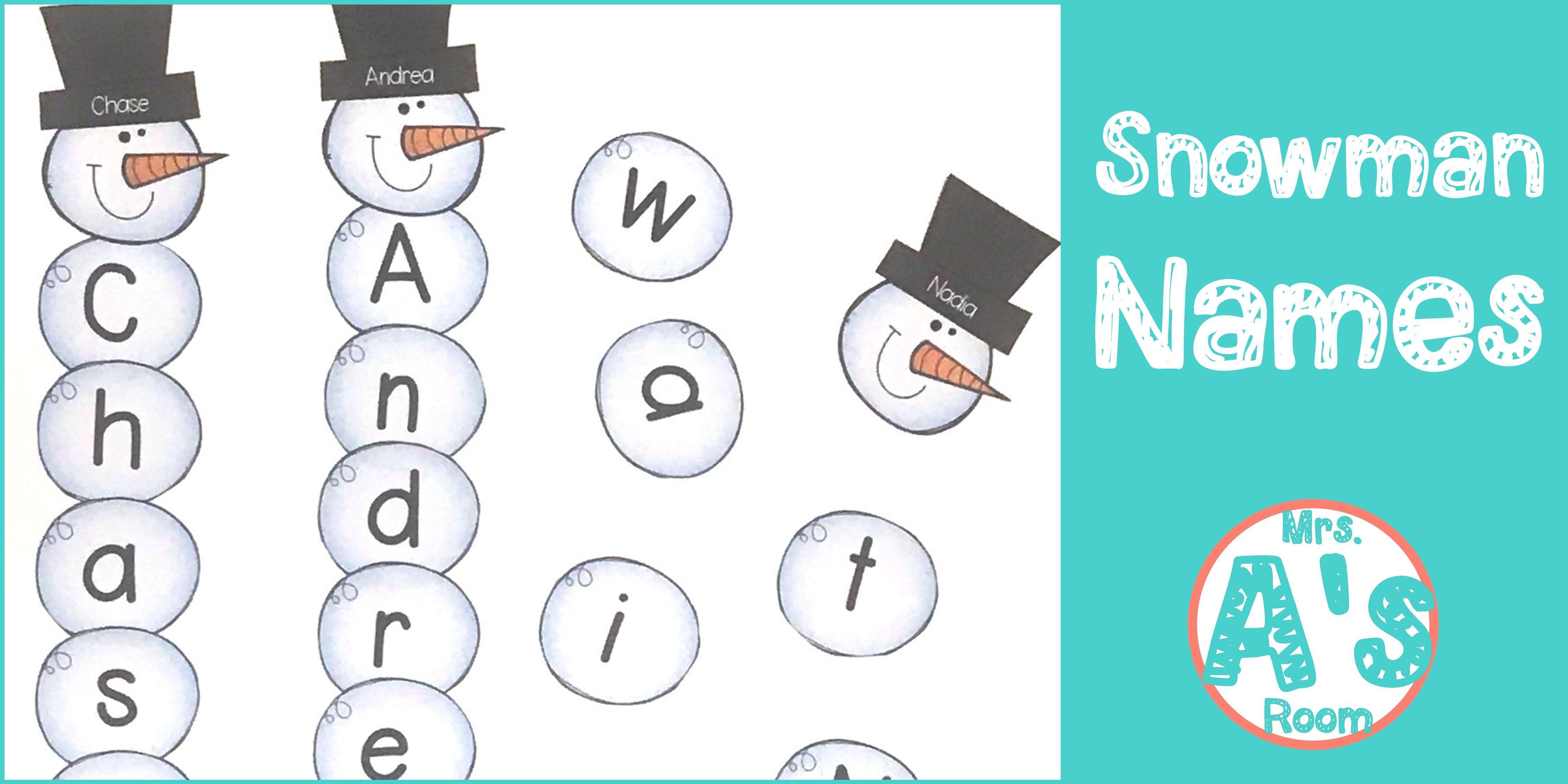 Snowman Names Busy Box