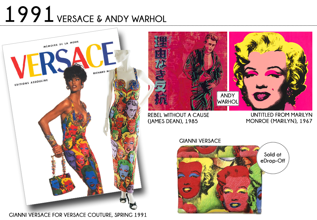 0446f380264f Andy Warhol s influence continued into the early 90 s golden era of Gianni  Versace.