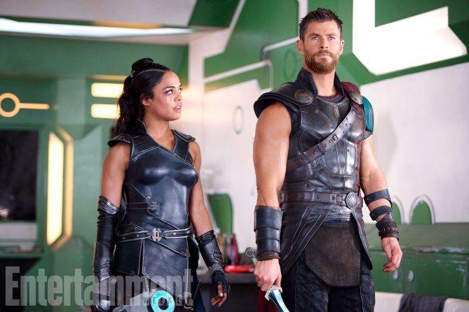 First Thor Ragnarok Images Reveal Jeff Goldbum Mark Ruffalo And More Thor Valkyrie Tessa Thompson Marvel Thor