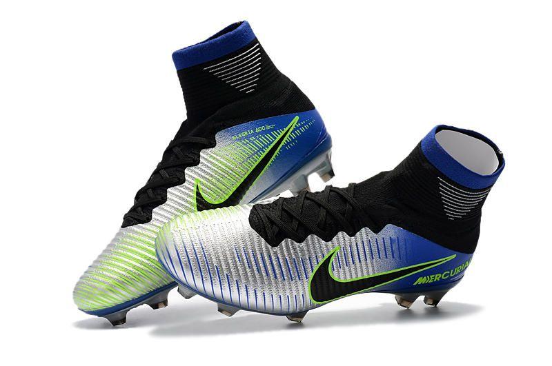 9b9b14a2805a5 Nuevo Botas de Futbol Neymar Nike Mercurial Superfly V FG Cromo Azul ...