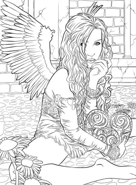Best Halloween Coloring Books For Adults Angel Coloring Pages, Fairy Coloring  Pages, Coloring Pages