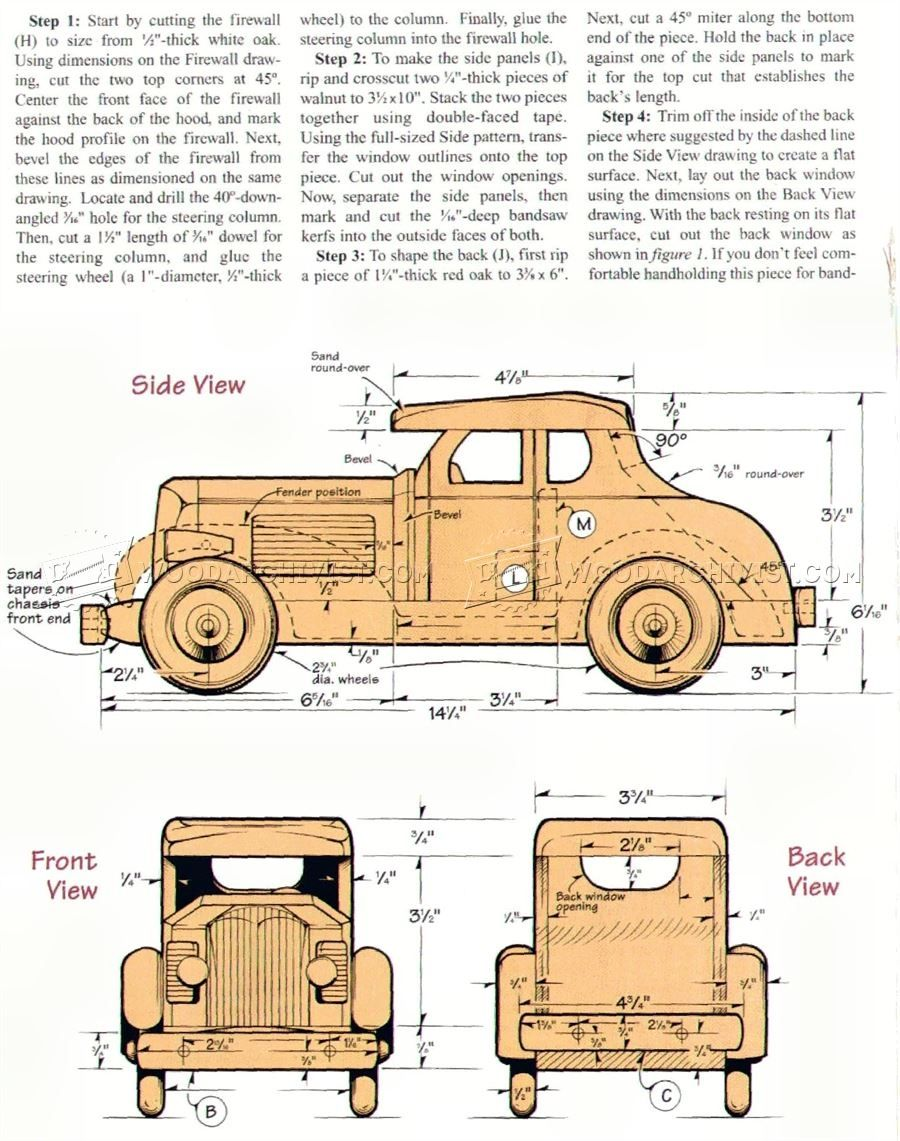 12 wooden deuce coupe plan small wooden toy plans for