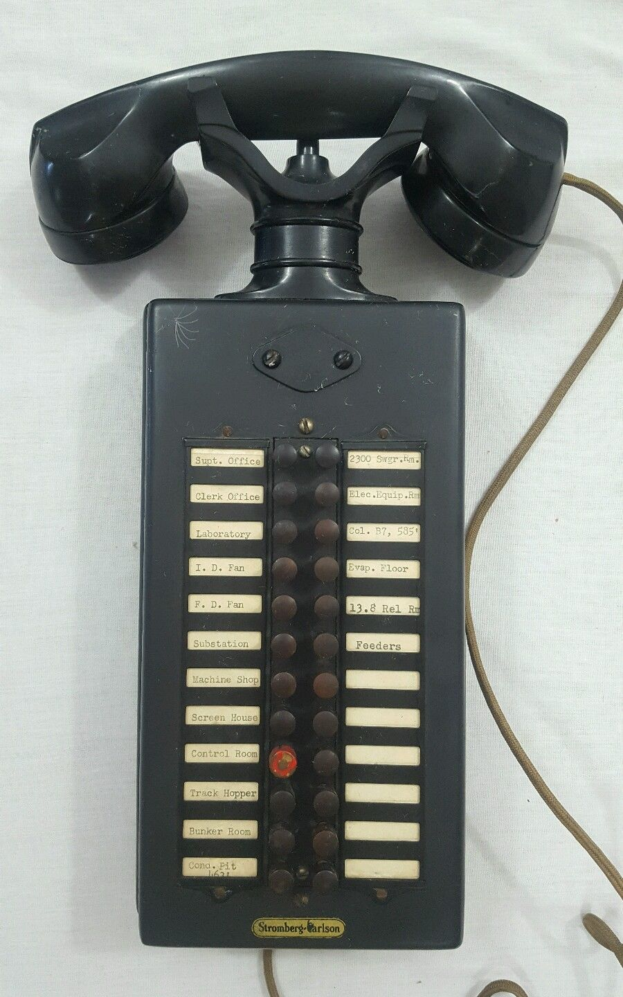 Stromberg Carlson Antique Vtg Black Intercom Switchboard Telephone ...